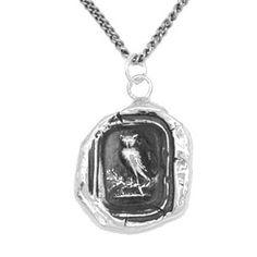 Pyrrha Owl necklace, great everyday piece