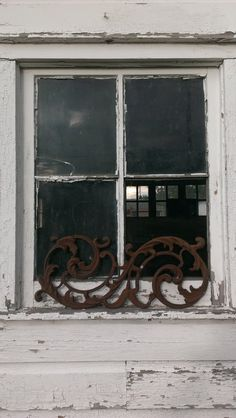 Antique Rusty Cast Iron Vine Architectural Salvage Panel by OldHouseChic, $35.00