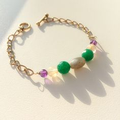 Bohemian Bracelet With Natural Stones by Crisophine Jewelry