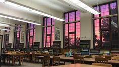 Sunset in Library