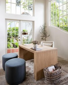 Studio McGee (@studiomcgee) • Instagram photos and videos Home Office Design, Home Office Decor, House Design, Home Decor, Office Desk, Studio Mcgee, Outdoor Furniture Sets, Outdoor Decor, Dining Bench