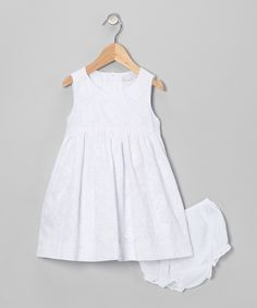 White Rose A-Line Dress & Bloomers - Infant & Toddler