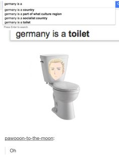 APH Germany (Romano, did you google that?)<<He probably didn't or else it would have said 'potato bastard'