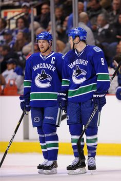 395c65868 Zack Kassian and Henrik Sedin. Never thought he would be on first line of  the
