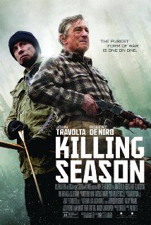 Killing Season (2013) de Niro and Travolta.  Although Travolta's accent doesn't quite hold water and near the end there is a disjointed scene, this is really a good movie.  All of us need to take a good look at what we have done in the past to make sense of our present and build from there.