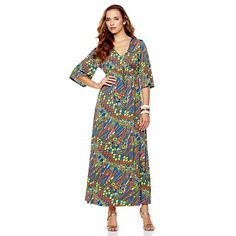"Nikki Poulos ""Erin"" Maxi Dress at HSN.com. Love the pattern!"