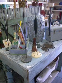 whimsy on 7th is our home and garden store! we usually go heavy on the vintage garden!