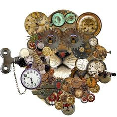 Lion clock of time.