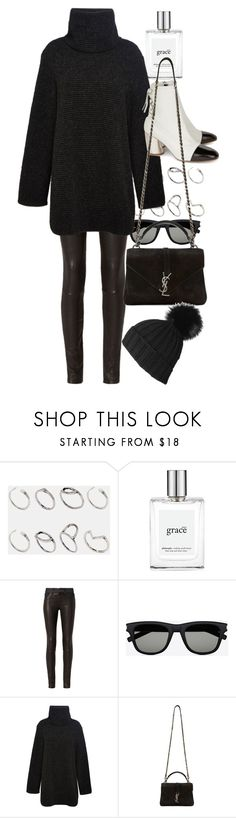 """Untitled #9798"" by nikka-phillips ❤ liked on Polyvore featuring ASOS, philosophy, rag & bone, Yves Saint Laurent, Clover Canyon, Proenza Schouler and Black"