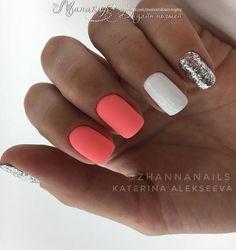 Cute Summer Nail Designs, Cute Summer Nails, Cute Nails, Pretty Nails, My Nails, Summer Design, Nail Design Stiletto, Nail Design Glitter, Nails Design
