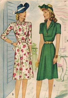 1940s McCall 4837 Vintage Sewing Pattern Misses by midvalecottage