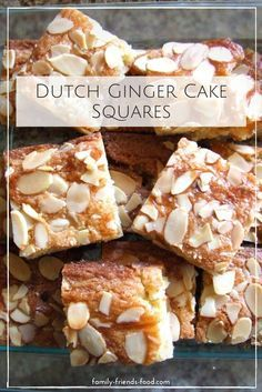 Moist & chewy, these Dutch ginger cake squares are moreish and delightfully spicy. Perfect with a cup of tea as a mid-morning pick-me-up or afternoon treat. Could easily be made vegan Tray Bake Recipes, Baking Recipes, Cake Recipes, Dessert Recipes, Desserts, Cupcakes, Cupcake Cakes, Dutch Recipes, Sweet Recipes