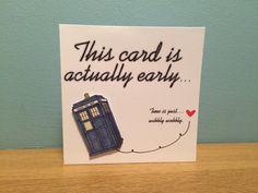 Geburtstagskarte verspätet Geburtstag Karte, besondere Anlässe, tut mir Leid Karte, Doctor Who-Karte, Dr Who-Karte