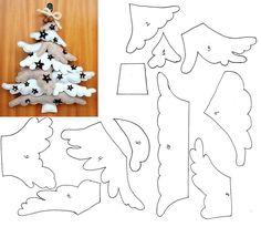 Выкройка новогодняя рождественская елка из фетра