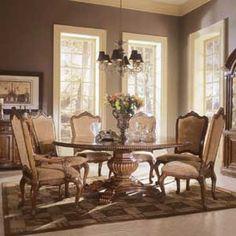 Universal Villa Cortina Round 58in. Dining Table - 409657TAB+BASE