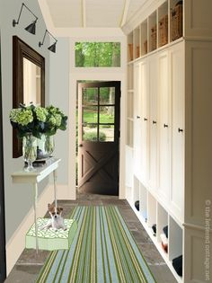 Great mudroom idea
