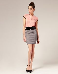 Herringbone pencil skirt from Fred Perry By Amy Winehouse