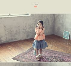Frilled Color Gathered-Waist Top - J-KIDS | YESSTYLE
