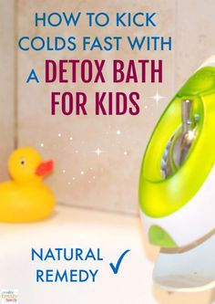 A natural remedy for colds. Detox bath for kids. Epsom salt baths that will boos… A natural remedy for colds. Detox bath for kids. Epsom salt baths that will boost the immune system and fight colds fast! Kids Health, Health Tips, Health Care, Health Benefits, Detox Bad, Bath Detox, Detox Bath For Colds, Doterra Detox Bath, Detox Bath Kids