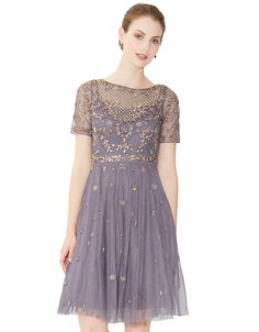 I'm in love with this dress--now I just need the lifestyle to go along with it. Solitaire Dress | Purple | Monsoon