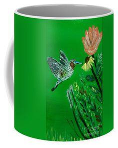 Humming Bird Coffee Mug by Scott Hervieux.  Small (11 oz.)
