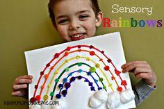 Mamas Like Me: Sensory #Rainbows #preschool #colors