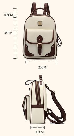 Cheap Retro British Style Travel Bag Shoulder Bag Buckle Backpack For Big Sale!Retro British Style Travel Bag Shoulder Bag Buckle Backpack,simple and fashion, with exquisite double pull head. Hobo Bag, Backpack Bags, Leather Backpack, Leather Wallet, Fashion Bags, Fashion Backpack, Leather Bag Pattern, Laptop Rucksack, Back Bag