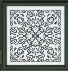 Ghostly Mandala is the title of this cross stitch pattern from Ink Circles that is stitched with Sullivans London Fog (3 skeins).