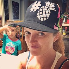 My vote was all for this hat!  Clearly I'm not as cool as the cool kids anymore #pineapple #pineapplehat #coolhat  #daughtertime