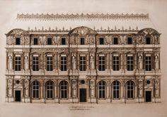 Lescot design for the west front of the courtyard, is emblematic of the Renaissance in France