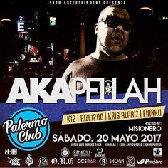- BUENOS AIRES PRE VENTA ACTIVA!! - ------------------ A K A P E L L A H @akapellahoficial  ------------------- - Unica presentación el proximo 20 de Mayo en palermo Club ademas presentaciones en vivo de >> - F I A N R U  @fianru  (FULL SET) - K 1 2  @elkiko12 (LIVE SET) - K R I S  A L A N I Z @krisalaniz1  (ORIGINAL SET) - R I Z E  1 2 0 0 @rize1200  (LIVE SET) - Hosted by el único  inigualable carismático M I S I O N E R O @misioflow RUIDOOOOO!! TE LO VAS A PERDER? - ANTICIPADAS $300…