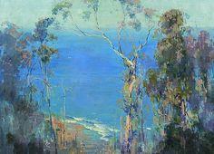 Arthur Streeton's Ocean Blue, Lorne.