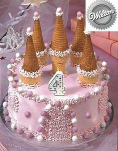 One of the simpler castle cake I& seen. - - One of the simpler castle cake I& seen. Castle Birthday Cakes, Birthday Cake Girls, Birthday Parties, Princess Birthday Cakes, Ninja Birthday, 3rd Birthday, Princess Tea Party, Easy Princess Cake, Princess Castle