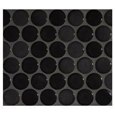 """Complete Tile Collection Penny Round Mosaic - Midnight Black - Gloss, 1"""" Round Glazed Porcelain Penny Mosaic Tile, Anti-Microbial, Anti-Odor, Anti-Staining Technology, MI#: 063-Z1-250-050"""