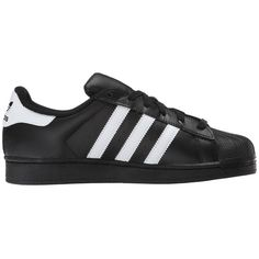 adidas Originals Superstar 2 (Black/White/Black) Classic Shoes (4.830 RUB) ❤ liked on Polyvore featuring shoes, athletic shoes, black shoes, adidas originals, leather upper shoes, kohl shoes and grip shoes