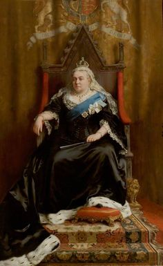 Queen Victoria (1819–1901) by Thomas Benjamin Kennington Date painted: 1898 Oil on canvas, 237 x 144.5 cm Collection: Retford Town Hall