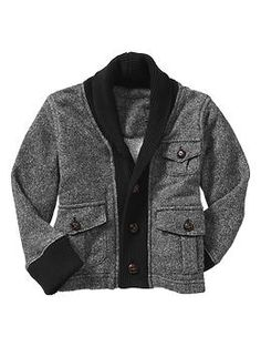 black and gray cardigan for boys