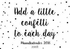 Mooie zwart witte maandkalender 2016 voor al je afspraken