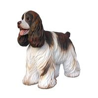 English Cocker Spaniel Standing Dog Statue  use code 'cindy' for discount on these items lmtreasures.com for more great items code cindy for all discounts see my other pins for great cool items 626-252-7354