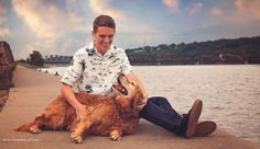 Guy senior portraits taken in Dubuque Iowa by Candid Touch Photography and Design. Senior sessions with your dog.