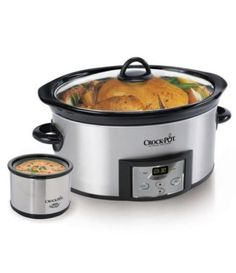 The Crock-Pot Countdown Slow Cooker was created with you and your busy schedule in mind. Crock-Pot The Original Slow Cooker. Crock-Pot Countdown Programmable Oval Slow Cooker with Little Dipper - Stainless Steel. Crock Pot Recipes, Slow Cooker Recipes, Crockpot Ideas, Freezer Recipes, Roast Recipes, Clean Recipes, Freezer Meals, Soup Recipes, Slow Cooking