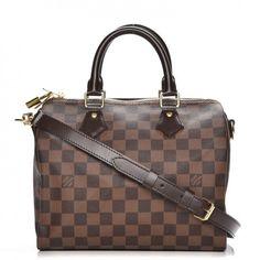 Louis Vuitton Speedy Bandouliere Damier Ebene 25 Brownby: Louis Vuitton@StockX Holdings LLC #ad #affiliate #louisvuitton #speedy #damier 1300USD