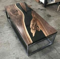 35 Modern Home Furniture Ideas With Incredible Resin Wood Table - Resin tables - Resin Furniture, Wooden Pallet Furniture, Modern Home Furniture, Table Furniture, Wooden Pallets, Business Furniture, Furniture Ideas, Outdoor Furniture, Furniture Design