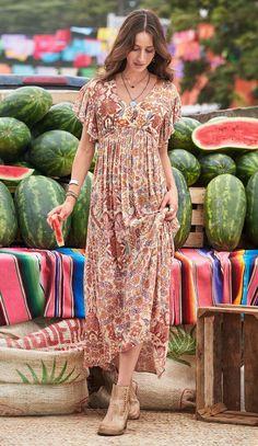 Empire waist, swishy skirt, flutter sleeves -- perfect!
