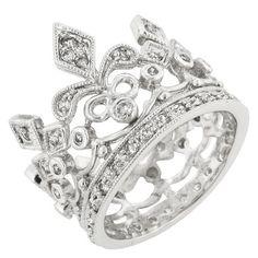 CZ Crown Eternity Ring