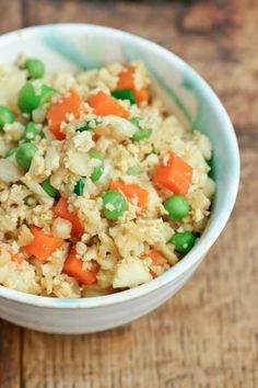 My family loved this chicken and cauliflower fried rice! It's a complete dinner in a bowl.