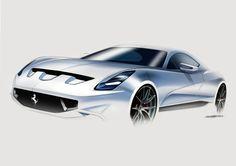 Daily Sketch: Ferrari by Oguz Sipahioglu  gallery:   Oguz's work…