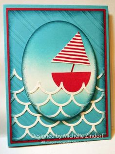 Ahoy There – Stampin' Up! Card created by Michelle Zindorf