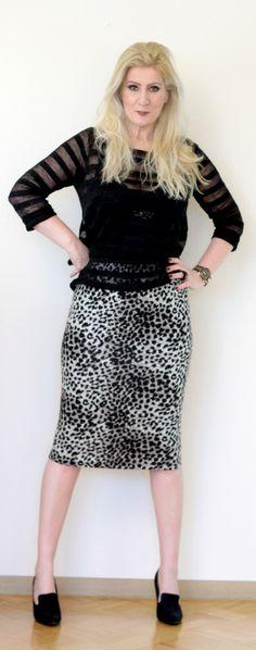 Stripes and animal print   Dana loves fashion and music