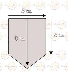 Resultado de imagen de banderines de papel medidas